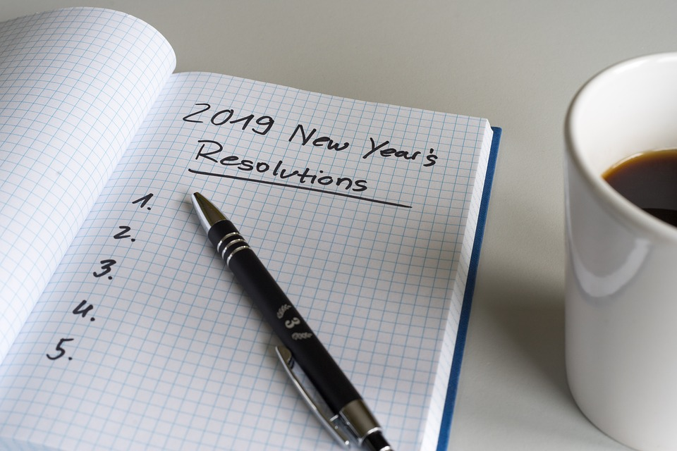 List of New Year's Resolutions for 2019