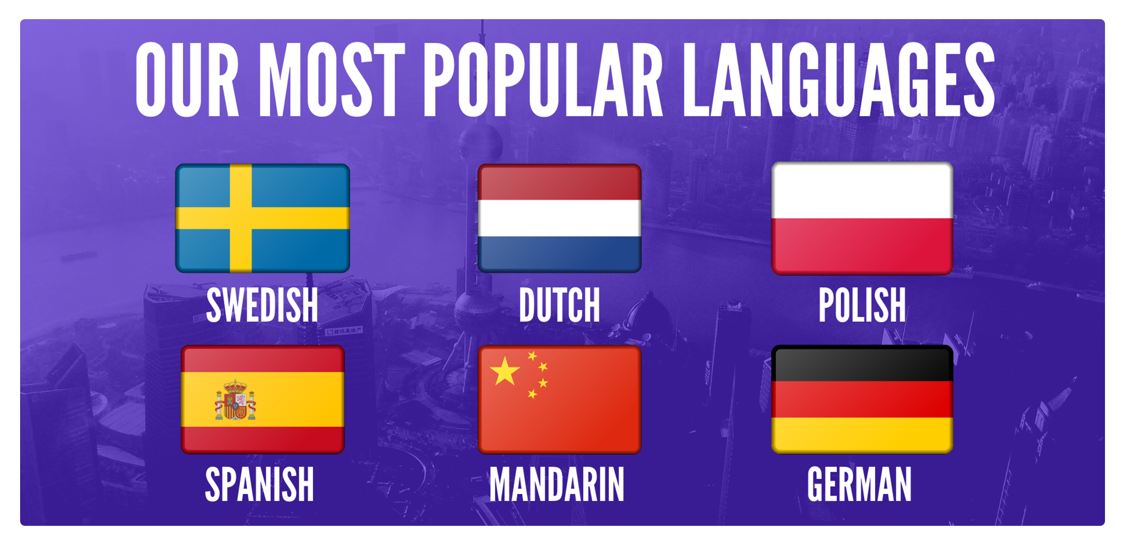 Picture of our most popular foreign language courses