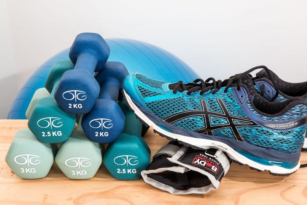 dumbbells training fitness gym